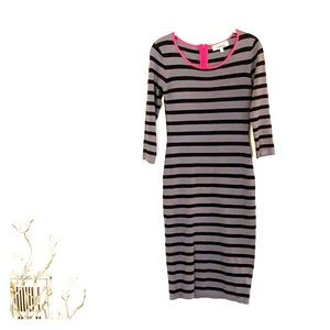 👗Striped black and gray dress🎀